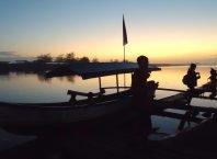 Sunset di Laguna Pantai Glagah Kulon Progo