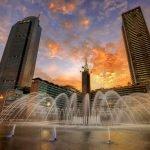 Tahun Baruan Meriah di Bundaran Hotel Indonesia