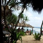 menikmati santapan khas laut di Pantai Indrayanti