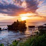 Sunset di Pantai Tanah Lot Bali