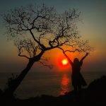keindahan senja di pantai kesirat Gunung Kidul