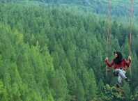 Sky Swing di The Lodge Maribaya