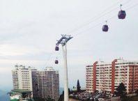 Pemandangan Gondola Yang menari-nari di Theme park hotel