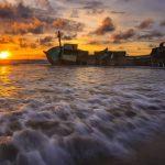 Sunset Di Pantai Kedu Warna