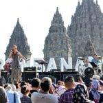 Panggung dengan Background Candi Prambanan, Image By ; Tim Prambanan Jazz 2018