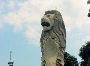 Patung Merlion di Pulau Sentosa, image : pixabay
