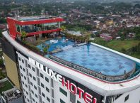 Indoluxe Hotel Jogjakarta building from birds eye