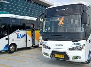 Bus Damri Bandara Kulon Progo YIA, Image By IG : @maniakbuscom