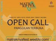Open Call Matra Kriya Fest 2020