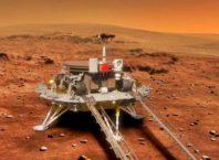 Robot penjelajah Zhurong milik China mendarat di Mars. Foto: TV6 News