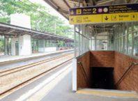 Underpass di Stasiun Universitas Pancasila dan Stasiun Pasar Minggu Baru-min